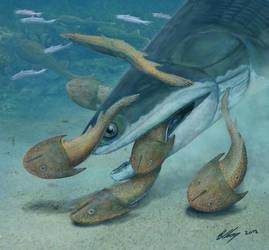 Megamastax - the first vertebrate apex predator by Gogosardina