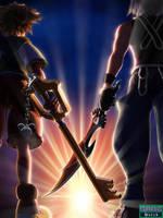 Kingdom Hearts 3d DDD by blueaqua77