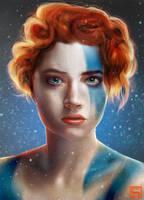 portrait study vikinggirl byLo0b0o by Lo0bo0