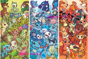 Pokemon Bookmarks by Bisc-chan