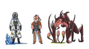 Gang Chibis 2 by Dragoonfliy