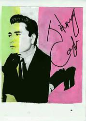 Johnny Cash pop art by Klairemartin