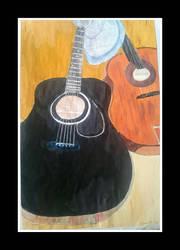 guitars still life by Klairemartin