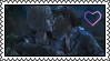 Clementine Kisses Violet Stamp by MarcyEveret