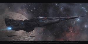 Space Arrow Delta by behindspace99