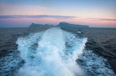 Leaving Capri.. by My-Skies