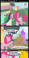 Bravo vs. Ponyville 3 by Angerelic