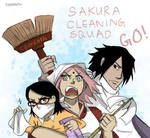 SasuSaku: Cleaners (Post-Naruto 700) by carrinth