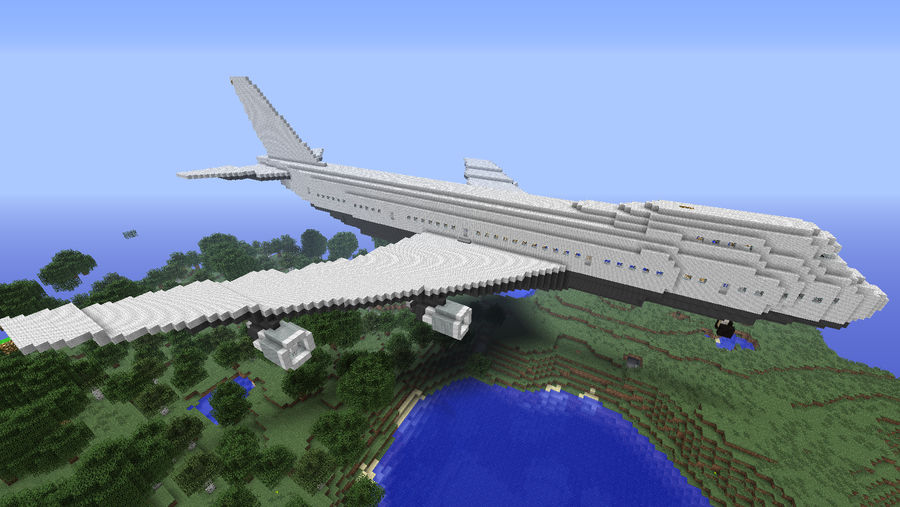 Minecraft Boeing 747 200 By Bombhugger On Deviantart