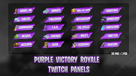 [PURPLE] Victory Royale 2018 - Twitch Panels by lol0verlay