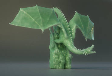 Jade Dragon by Piitas