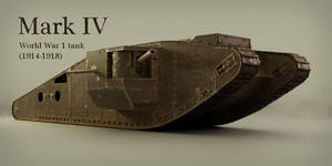 Mark IV World War 1 tank by Piitas