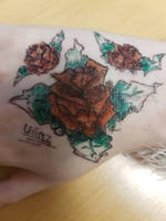 Tattoo design - roses for pup. by uniiz