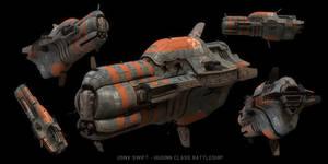 Huginn Battleship 2009 by strangelet