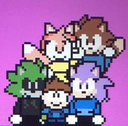 Group Photo by ZiggyTheZombieHedgie