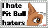 I hate APBT haters Stamp by TheBullTerrier