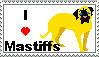 I love Mastiffs Stamp by TheBullTerrier