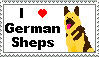 I love German Shepherds Stamp by TheBullTerrier