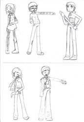 WIP:Zombie friends by Mafalda-chan