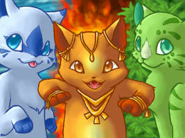 The Three Kitty Cats by Mewitti