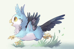 Pudgy Budgie by Mewitti