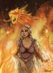Daenerys Queen of fire by ClaireLyxa