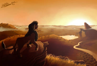 Kovu sunset by ClaireLyxa