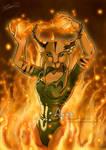 Lyxa on Fire by ClaireLyxa