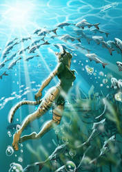 Lyxa Underwater by ClaireLyxa