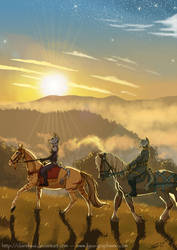 Sunrise ride by ClaireLyxa