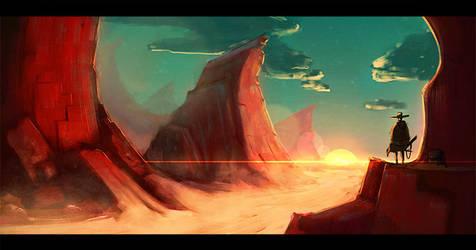 Red Desert Western by HenryBiscuitfist