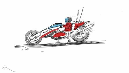 sci fi bike cellphone sketch by HenryBiscuitfist