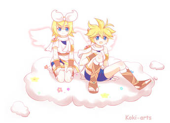 Kid Icarus - Rin And Len by Koki-arts