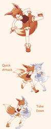 Pokemon Eevee - Gijinka Moves by Koki-arts