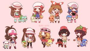 Chibi Pokemon Girls by Koki-arts