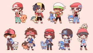 Chibi Pokemon Boys by Koki-arts