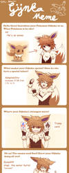 Draw your Pokemon Gijinka Meme by Koki-arts