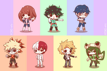 My Chibi Hero Academia by Koki-arts