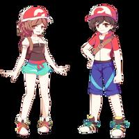 Pokemon Let's go Trainers by Koki-arts