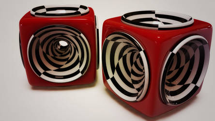 spiral cube by xylomon