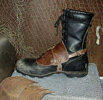 Leather Wastland Boot Guard by DirtyandDistressed