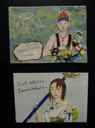 Final Fantasy X ATCs by KatarinaNavane