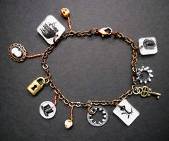 Steampunk Charm Bracelet 8 by KatarinaNavane