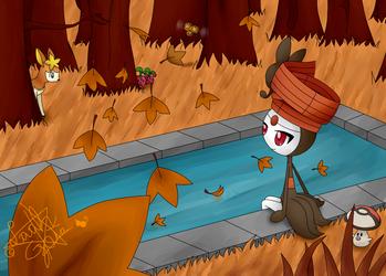 Meloetta in Fall... by LaahGata