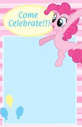 Pinkie Pie Birthday Invitation!! :D by ChanceyB