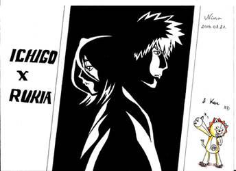 Ichigo X Rukia ...and Kon by NinaChan95