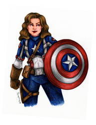 Peggy as Captain America by msciuto