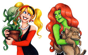 Harley and Ivy by msciuto