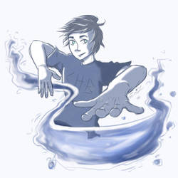 Percy Waterbending by ErinLiz