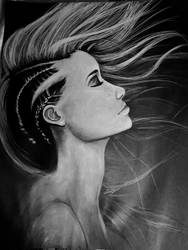 Girl in Charcoal by ErinLiz